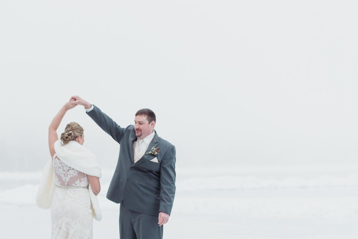 Golden Arrow Winter Wedding