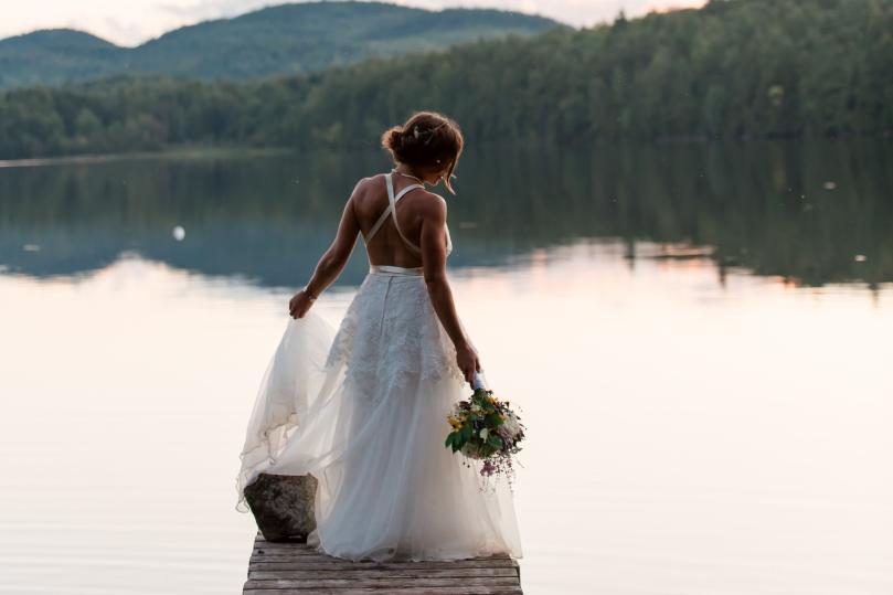 Lake Bridal Portrait